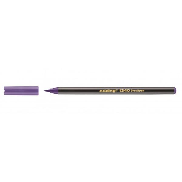 Edding 1340 Brushpen Violet 008 Flexibel Penseelvorm