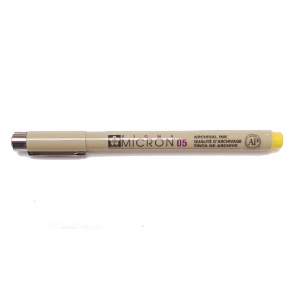 Pigma Micron 05 (0.45mm) YELLOW #3 Sakura Fineliner