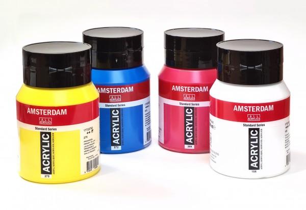 Mengset Set 4 x 500 ml Amsterdam Acrylverf - 105 572 275 369