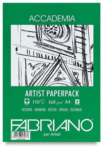 Accademia Tekenpapier Pak A3 160GR.75 vel groene verpakking Fabriano