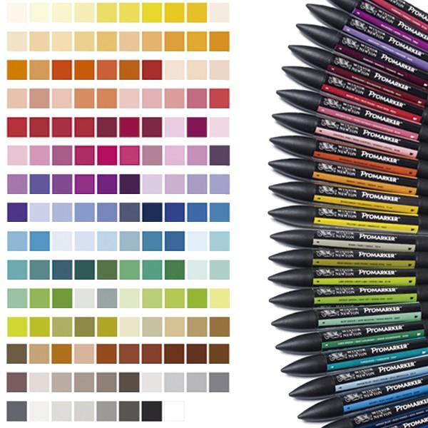 Promarker set alle 148 kleuren in 6 etuis Winsor & Newton