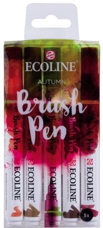 "Ecoline brushpen set 5 ""Autumn"" Aquarelmarker"