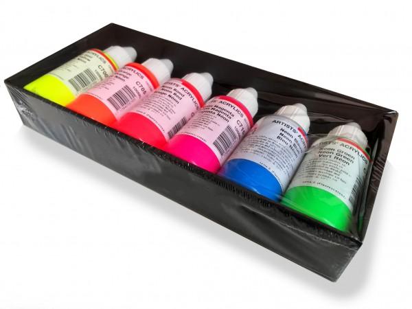 ARA Set Acrylics Neon Fluor set 6 x 100ml