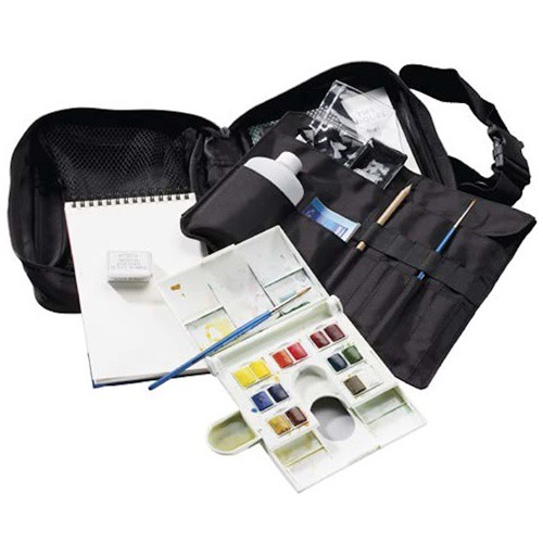 Aquarelverf Travel Bag Set 14 halve pans Winsor & Newton Cotman