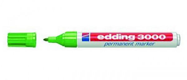 Edding 3000 Licht groen 011 rond 1,5-3 mm Permanent Marker