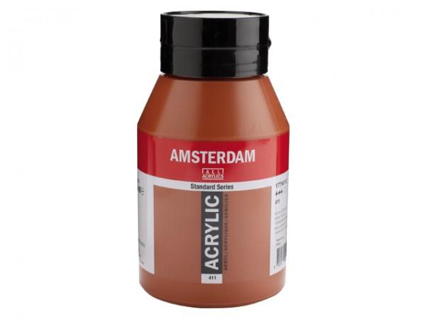 Amsterdam Acryl 1000ml 411 Sienna Gebrand 1 liter pot