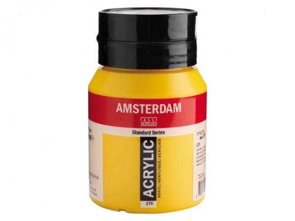Amsterdam Acryl 500ml 270 Azogeel Donker