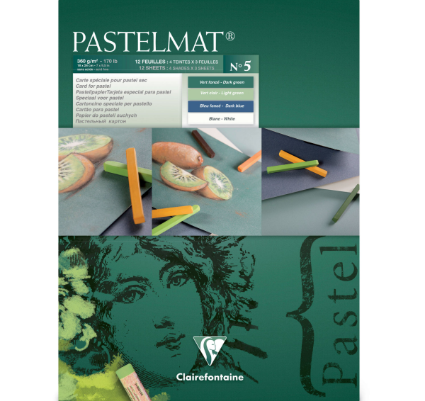 Pastelmat No. 5 (Groen) 360gr 18x24 Clairefontaine