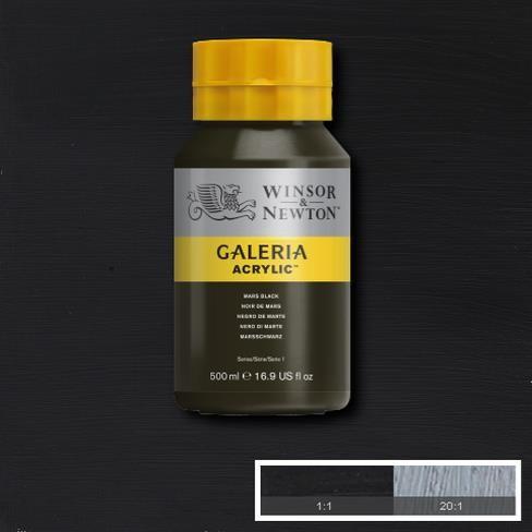 Galeria Acryl 500ml 386 S1 Mars Black