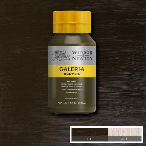 Galeria Acryl 500ml 554 S1 Raw Umber