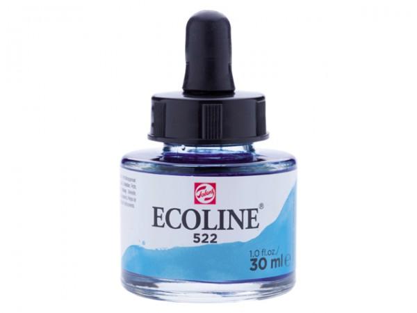 Talens ecoline inkt 30ml - 522 Turkooisblauw Inkt Kroontjespen