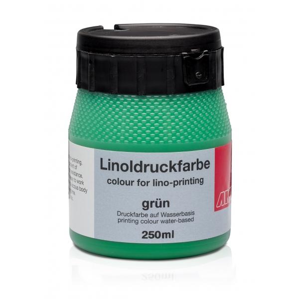 Ami Linodruk inkt Groen 250ml op waterbasis