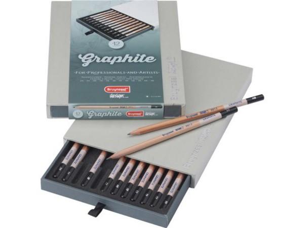 Graphite Potloden set 12 in Box Bruynzeel Design