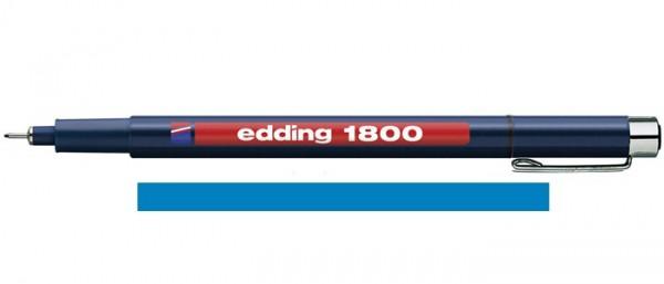 Edding 1800 Blauw 05 (0,5 mm) Profipen Fineliner