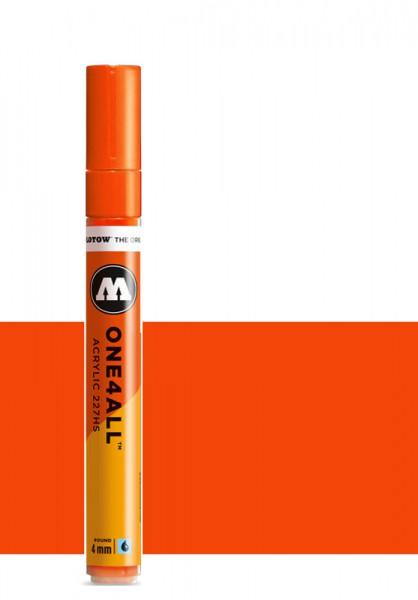 Molotow One4All Acryl Marker 227HS 4mm NEON ORANGE FLUORESCENT Paint marker
