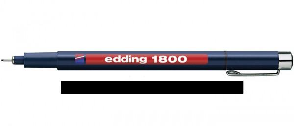 Edding 1800 Zwart 05 (0,5 mm) Profipen Fineliner