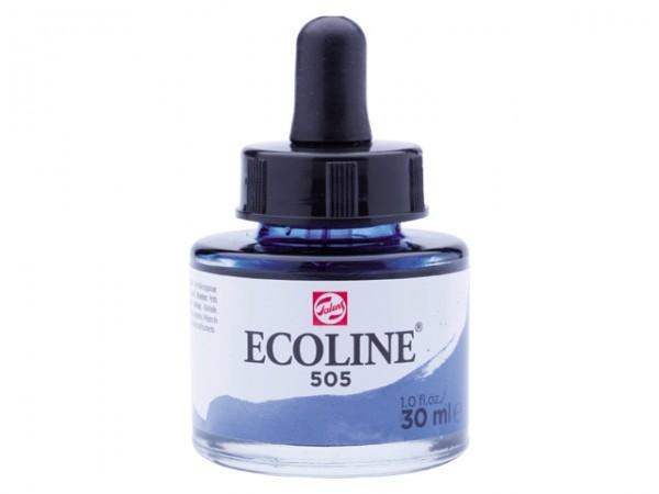 Talens ecoline inkt 30ml - 505 Ultramarijn Licht Inkt Kroontjespen