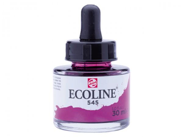 Talens ecoline inkt 30ml - 545 Roodviolet Inkt Kroontjespen