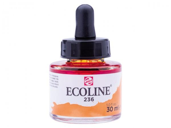 Talens ecoline inkt 30ml - 236 Lichtoranje Inkt Kroontjespen