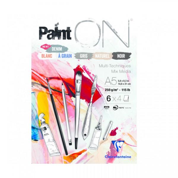 Paint-On A5 6x4 vel mix papier 250gr Clairefontaine