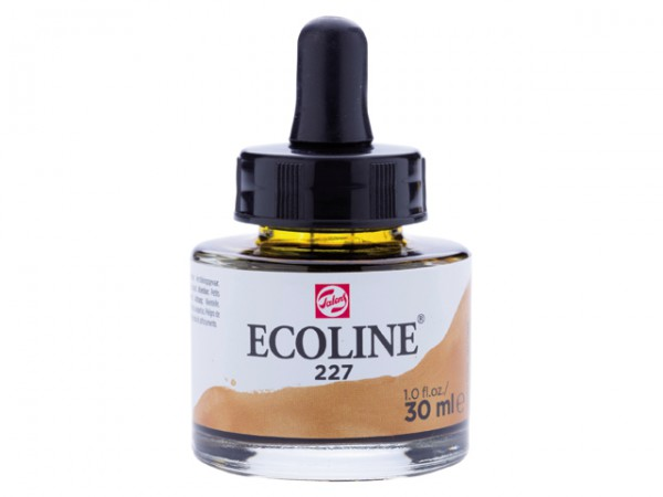 Talens ecoline inkt 30ml - 227 Gele Oker Inkt Kroontjespen