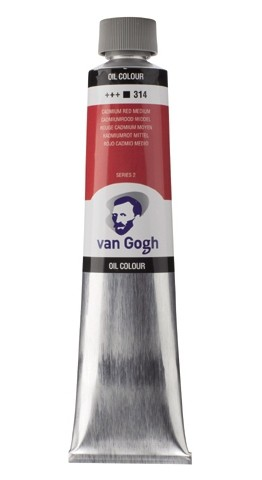 Cadmium Rood Middel 314 Olieverf 200 ml. Van Gogh