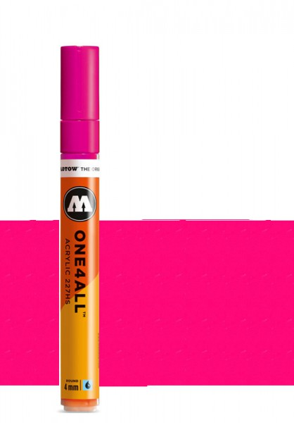 Molotow One4All Acryl Marker 227HS 4mm NEON PINK FLUORESCENT Paint marker