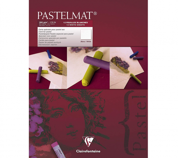 Pastelmat No. 3 (Wit) 360gr 30x40 Clairefontaine