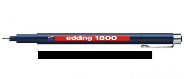 Edding 1800 Zwart 03 (0,35 mm) Profipen Fineliner