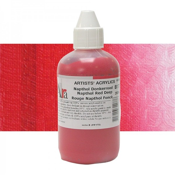 ARA Artists Acrylics 250ml B177 NAPTHOL DONKERROOD
