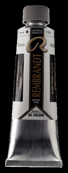Rembrandt Titaanwit (lijnolie) 118 S1 olieverf 150 ml