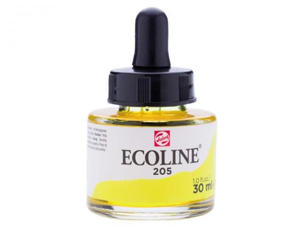 Talens ecoline inkt 30ml - 205 Citroengeel Inkt Kroontjespen