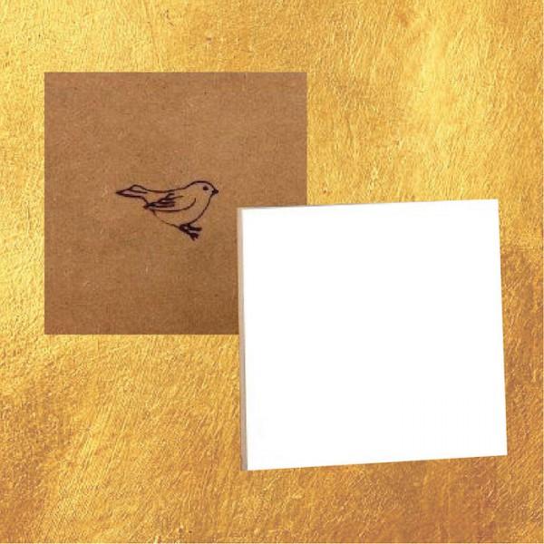 Mus Paneel 10x10 Golden Line (wit/glad)