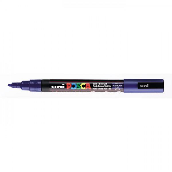 Posca verf stift PC3M Donker Blauw Paint marker