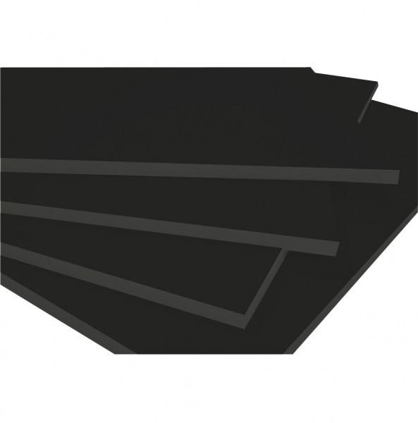 5 mm A4 foamboard zwart (Doos van 20 - 25%) 21.0 x 29.7 cm