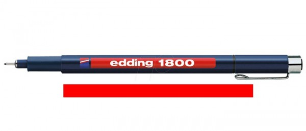 Edding 1800 Rood 03 (0,35 mm) Profipen Fineliner