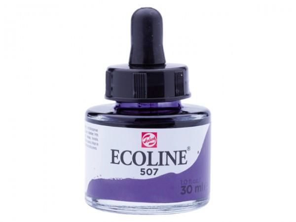 Talens ecoline inkt 30ml - 507 Ultramarijnviolet Inkt Kroontjespen