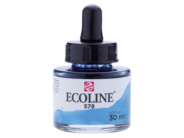 Talens ecoline inkt 30ml - 578 Hemelsblauw Cyaan Inkt Kroontjespen