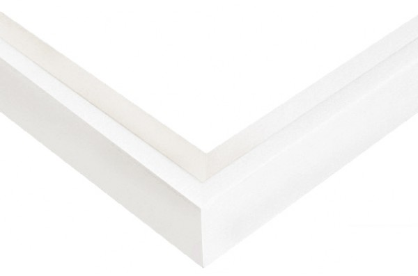 Witte baklijst 20 cm