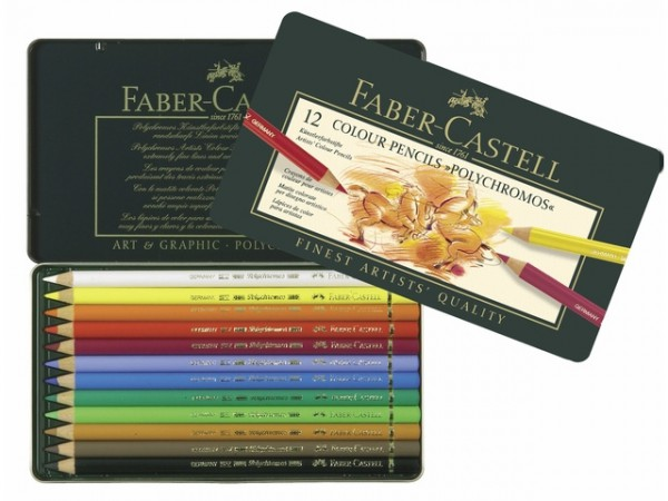 Faber Castell 12 Kleurpotloden Polychromos
