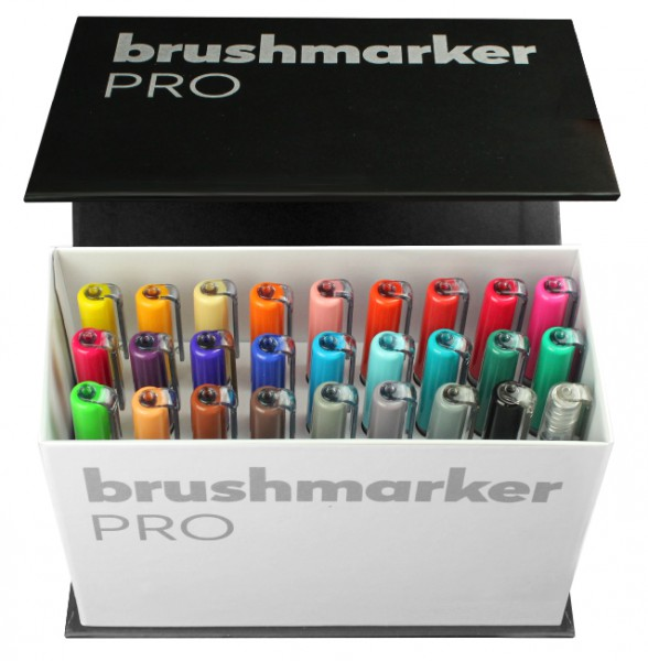 Brushmarker PRO Set Mini Box 26 colours + blender Karin