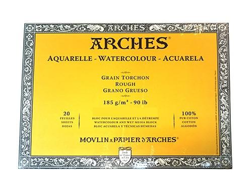 Aquarelpapier Grain Torchon 185 gr 18x26 Arches Blok
