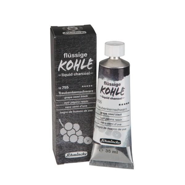 Liquid Charcoal - Grape Seed Black 35ml Vloeibare Houtskool Schmincke