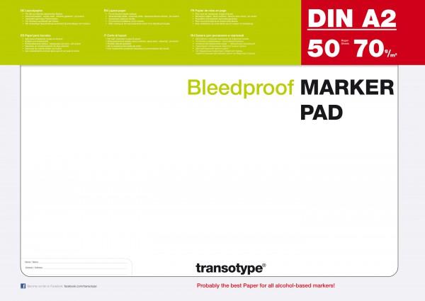A2 Papier Copic marker blok 70G 50 vel (transotype) Alcohol Marker
