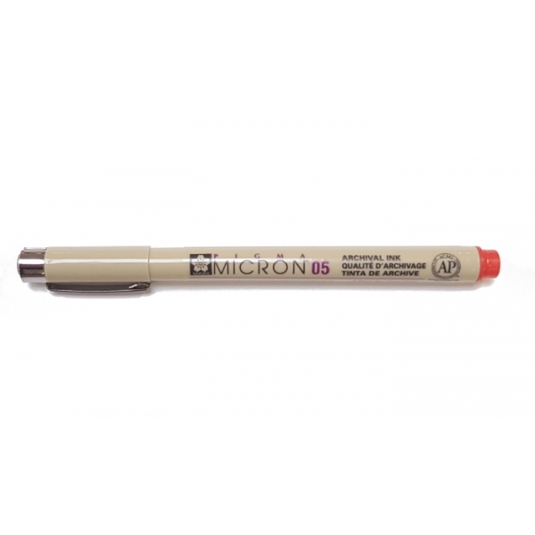 Pigma Micron 05 (0.45mm) RED #19 Sakura Fineliner