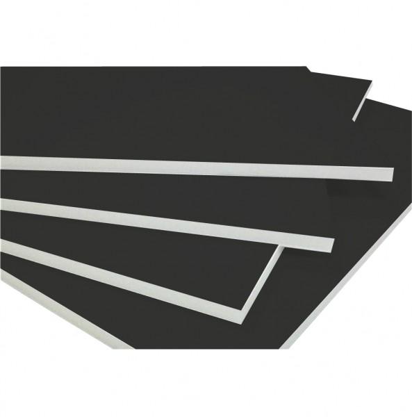 5 mm 50x70cm foamboard zwart/wit (Doos van 25 - 25%)