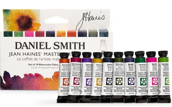 Jean Haines` Watercolor Set Daniel Smith set 10 tubes 5ml