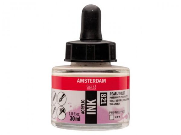 Pearl violet 821 Amsterdam Acryl Inkt 30 ml. Inkt Kroontjespen