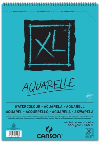 A3 Aquarelle 300 gr Papier Canson XL