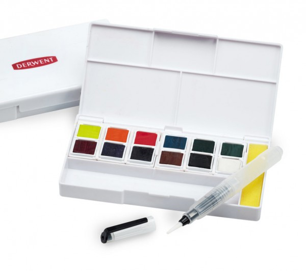 Derwent Inktense paint pan travel set #2